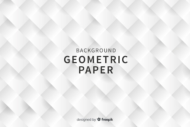 Фон геометрических квадратных фигур в стиле бумаги