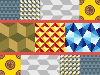 Geometric squares abstract shapes