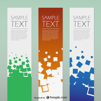 Geometric squares banners