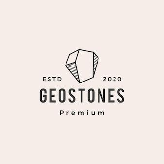 Геометрический логотип драгоценных камней