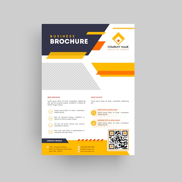 Geometric style business presentation brochure