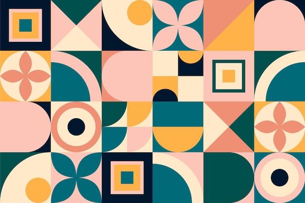 Geometric style mural wallpaper