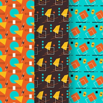 Geometric style pattern collection