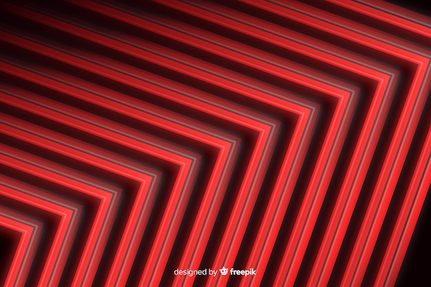 Sfondo di luci rosse di stile geometrico