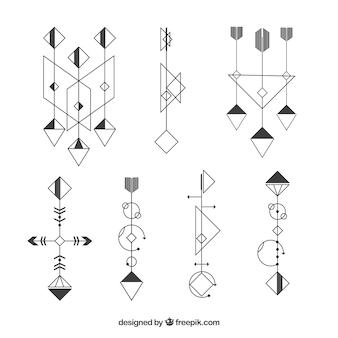 Geometric tattoo collection