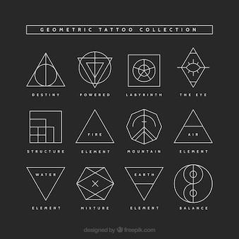 幾何学的な入れ墨のコレクション