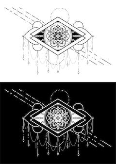 幾何学的なタトゥーのデザイン