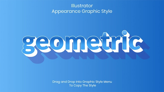Geometric text style effect template