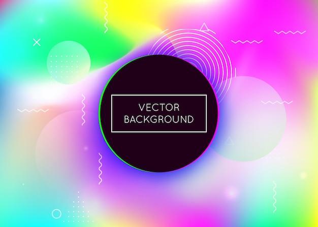 Geometric texture. motion dots. hologram presentation. summer flyer. hipster background. space concept. blue retro fluid. soft futuristic template. purple geometric texture