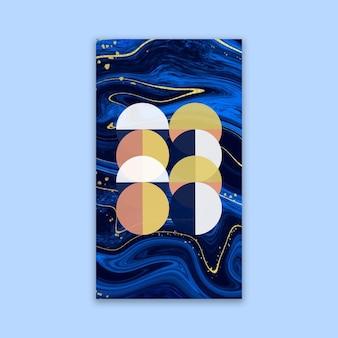 Carta da parati mobile con texture e forme geometriche
