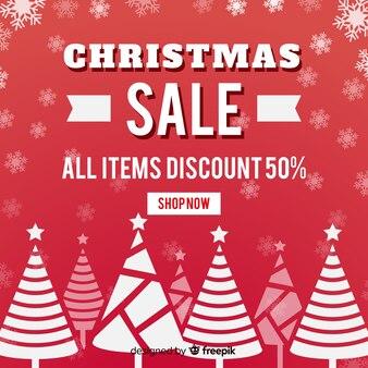 Geometric trees christmas sale backgroud