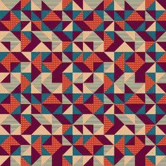 Geometric triangle abstract with colorful vintage background