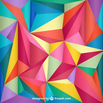 Geometric triangle background Free Vector