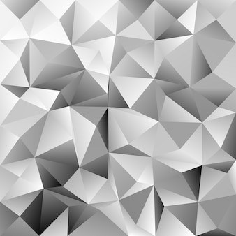 Geometric triangle tile pattern background - polygon vector graphic from grey triangles