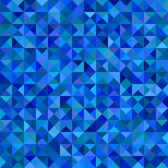 Геометрический треугольник плиточный мозаичный фон - векторная иллюстрация из треугольников в синих тонах