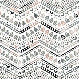 Geometric tribal ethnic seamless pattern in aztec style.