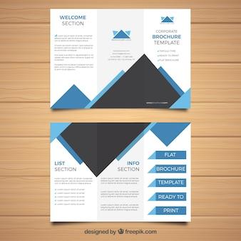 Modello geometrico trifoglio brochure