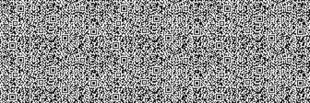 기하학적 벡터 배경, 배너, qr 코드를 주제로 한 환상