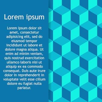 Геометрические вектор фон формы куба