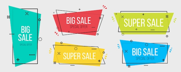 Geometric vector banners, poster, background.