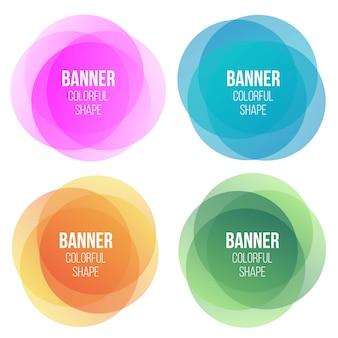 Geometric vector banners