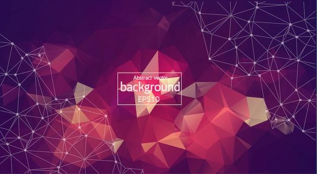 Geometric vintage polygonal background