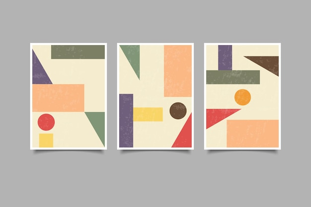 Geometric vintage wall art collection