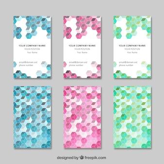 幾何学的な訪問カード