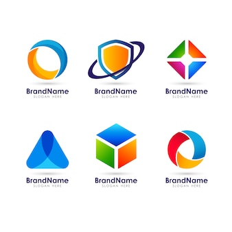 Geometric web icon logo element template