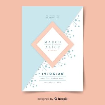 Geometric wedding invitation template