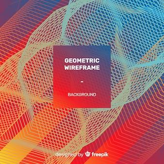 Geometric wireframe background