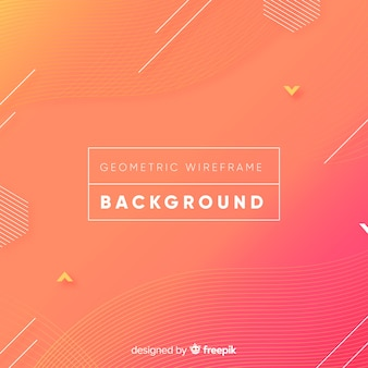Geometric wireframe background