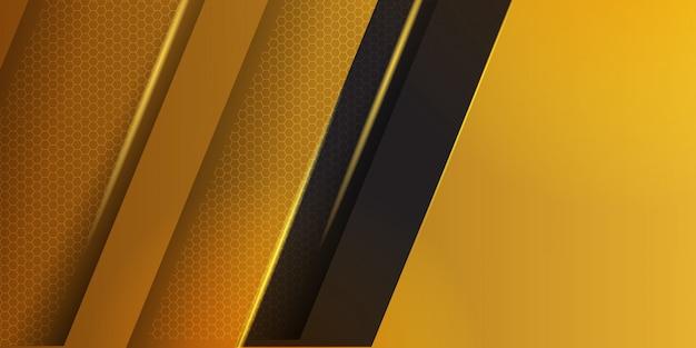 ストライプの背景を持つ幾何学的な黄色の素材