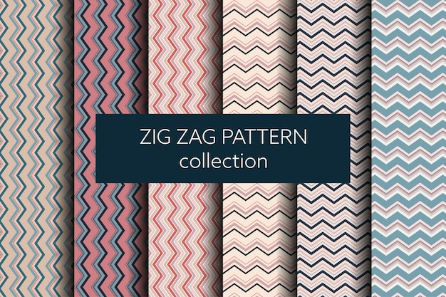Geometric zig zag pattern collection