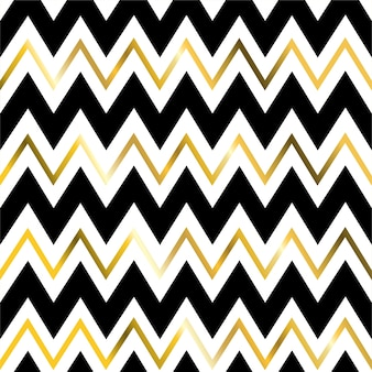 Geometric zigzag line gold seamless pattern.