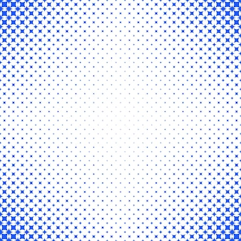 Geometrical abstract halftone star pattern background - vector graphic with blue curved stars on white background