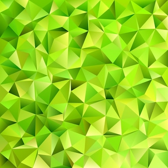 Geometrical abstract irregular triangle tile pattern background - vector design from triangles in lime green tones