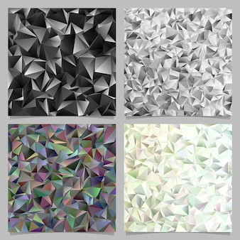 Geometrical abstract tiled triangle pattern background set