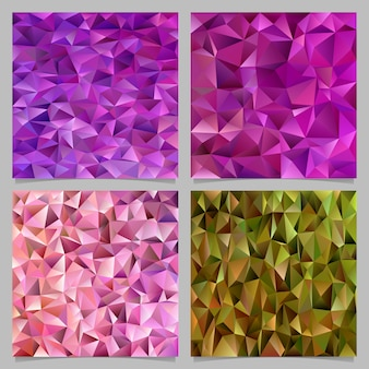 Geometrical abstract triangle background set