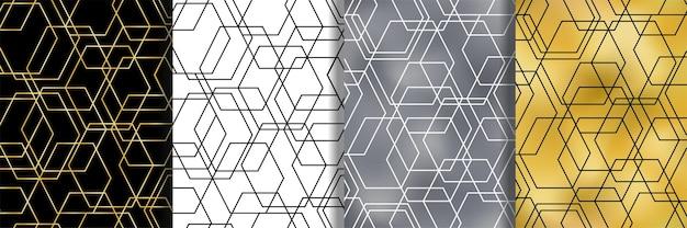 기하학적 추상 벡터 원활한 패턴 세트