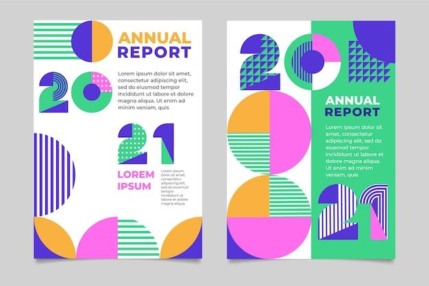 幾何学的な年次報告書テンプレート