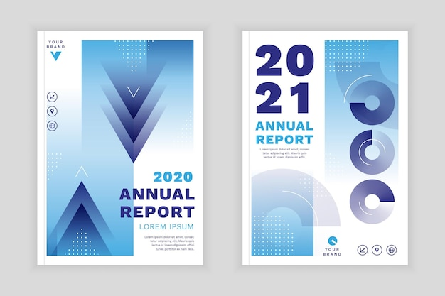 Geometrical annual report templates