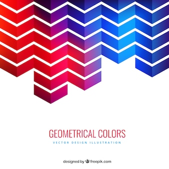 Geometrical arrows red and blue