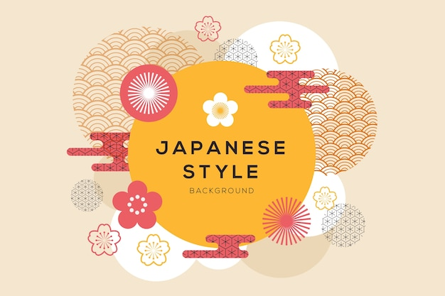Geometrical background in japanese style