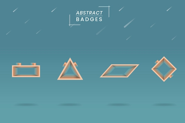 Geometrical badge set