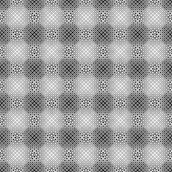 幾何学的な黒と白の斜めの正方形のパターン