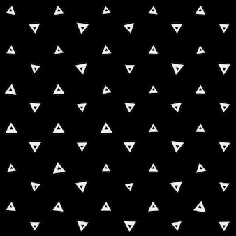 Geometrical black pattern with white triangles