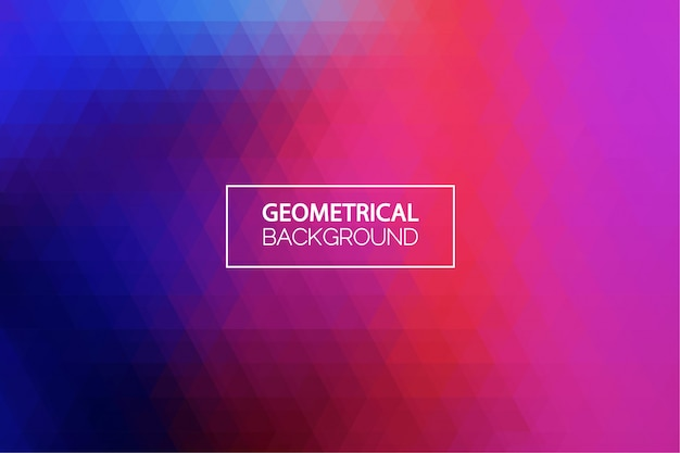 Geometrical blue and purple gradient background