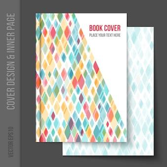 Геометрический дизайн обложки книги