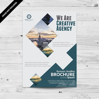 Geometrical business brochure